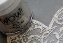 Embossing powder / Embossing powder on cards and other creative projects. #embossingpowder #wow! #wow #ranger #timholtz