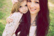 anya-lánya fotózás