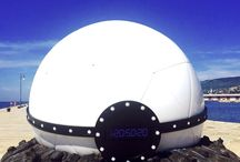 Smart Tour ForFun3 / Una sfera misteriosa è atterrata sul Molo Audace di Trieste...  Contiene la nuovissima Smart ForTwo Automatica! Qui le foto di questo evento spaziale!