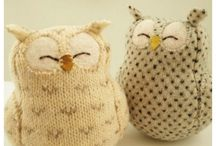 Knitted owls