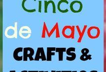 Cinco De Mayo Coloring, Crafts and More