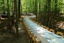 Tables in unexpected places / #luxuryweddingplanner #franceweddings #chateauweddingfrance #weddingceremony #weddinginspirations #corporate #event #planner #corporateeventplannerparis #elegant