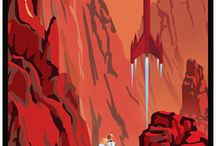 Outer Space Travel Posters