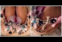 Handmade Sandals / Leather colorful girly romantic unique lovable