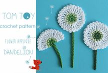 crochet flower and sea animals