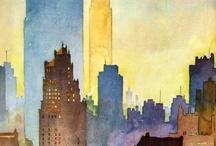 Watercolour / City