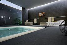 DSG Ceramiche riveste piscine e SPA / Il #gresporcellanato bocciardato di DSG Ceramiche è stato scelto per rivestire i #pavimenti esterni e interni di SPA, #Wellness e piscine.