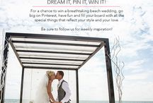 The Palace Resorts Dream Beach Wedding Contest / You could win your #DreamBeachWedding with Palace Resorts! For a chance to win a breathtaking beach wedding, go big on Pinterest, have fun and fill your board with all the special things that reflect your style and your love.