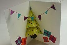 tarjetas navideñas pop up