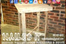 Custom Built Pallet Tables / Custom built pallet wood furniture, Durban, Kwa-Zulu Natal. We will build your furniture and decor to your specifications and requirements. Indoor and outdoor. If it's made from wood, we'll build it. #palletfurnituredurban #palletfurnitureamanzimtoti #outdoorpalletfurniture #palletfurniturekzn #custompalletfurniture #palletwoodfurniture #custompalletfurnituredurban #custompalletwoodfurniture   #naileditpalletfurniture #naileditpalletfurniture #custompalletfurniture
