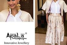 Ever stunning Sonam Kapoor adorns earrings from Apala by Sumit for her upcoming movie promotion Dolly ki Doli.