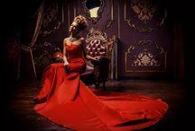 Фотосессия в роскошном платье