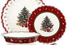Kerstservies / DIY, porselein, kerst