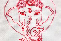 Ganesh embroidery