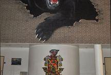 Panther murals