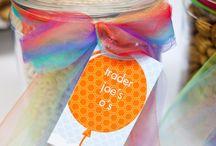 Balloon Rainbow Birthday Party   Ideas, Decorations and Inspiration / Balloon Rainbow Birthday party ideas, including party decorations, balloon rainbow birthday party themed sweets and treats, printables and party activities.