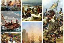 Battle Ships and Landscapes Art Print 19th cent.