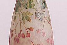 CLAY: Ceramics. GLASS ART, glassware.