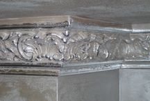 FRAME DECORATED WITH AGED SILVER LEAF / Ornamental plaster works - PA.CA. srl FRAME DECORATED WITH AGED SILVER LEAF