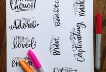 Lettering ideas/Prompts