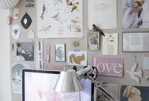 Home Office and Study Ideas / Gorgeous home office, study and work space ideas. Rooms full of personality and intent. Creative spaces, studios and tips to decorate them.