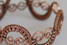 Wire woven jewelry .