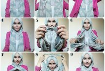 Tutorial Hijab / It's all about tutorial and inspired styled for hijab