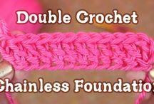 Double crochet start