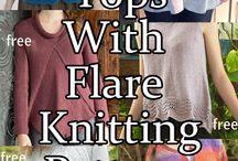 Free knitting tops
