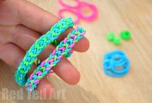 Loom band ideas / Have fun with loom bands  #GirlsNoBest Many ideas