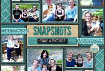 Scrapbook layouts multiple photos
