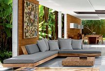 Living room tropical