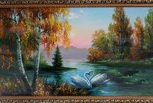 Картины Осенний пейзаж / Картины Осенний пейзаж