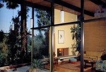 Mid Century Love / new and old inspired by mid century modern.  What I love is the open space floor plan, floor to ceiling windows, vaulted wood ceilings, timeless (well, mostly ;)  and clean lines that you can do anything with.