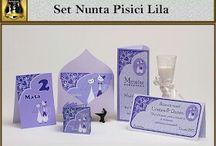 Set nunta Pisici Lila