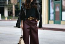 Culottes / Not short, not long. Just sit right under the knees. The wider the better. Culottes are definitely the IT thing to wear this season.
