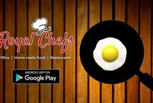 Royal menu on Royal chefs... Download now. / 'Royal Chefs' is an app, which will act as 'Medium' between Chefs and Foodies. Enjoy your food everyday with 'Royal Chefs'.