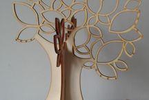 Ékszertartó fa / Fából és műanyagból készített egyedi ékszertartó fák