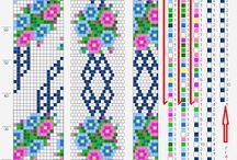 Spirali di perline a crochet