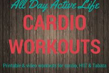 Cardio Workouts: HIIT, Tabata and Cardio / Free cardio workouts including HIIT, Tabata and Dance workouts from the best online trainers.  You will find workout videos and workout printables.