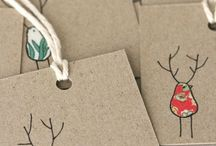 Christmas cards and labels