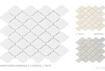 Avant Garde / This mosaic tile brings a unique and mid century modern look to any space. Avant Garde is perfect for any bathroom, backsplash, or added detail to a space. With a variety of shapes and sizes this mosaic will complete every space.