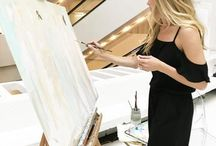 Live Paintings / Live Painting Performance by Artist C. Brooke Ring at weddings and other events