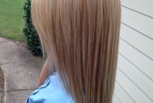 blonde highlightes and lowlightes / Platinum highlightes and caramel lowlightes using Paul Mitchell color
