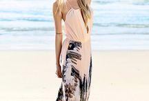 On beach / Clothing