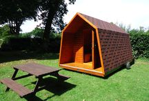 Glamping in Devon / Our camping pods are new this year.  A warm, cosy alternative to camping, they are ideal for use in spring and autumn, but also great fun for the children in the holidays.