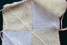 Knit: Domino/Mitered knitting / Domino stickning