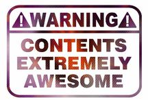 WARNING! Contents Extremely Awesome! / Men's Tee of YourEyesLie