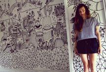 Posca Wall Art