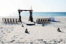 Aruba wedding setups